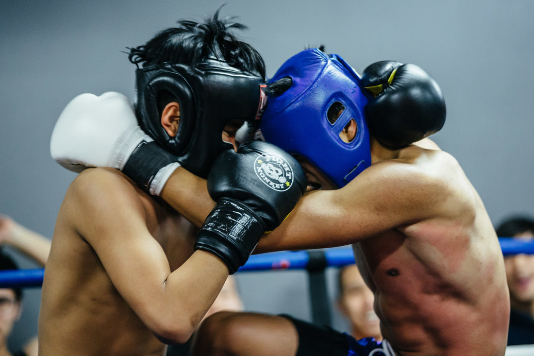 In-house sparring at Krudar Muay Thai
